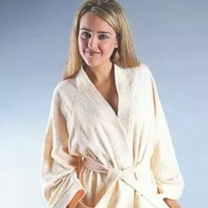 NWT Women's Robe Turkish Cotton Terry Cloth White